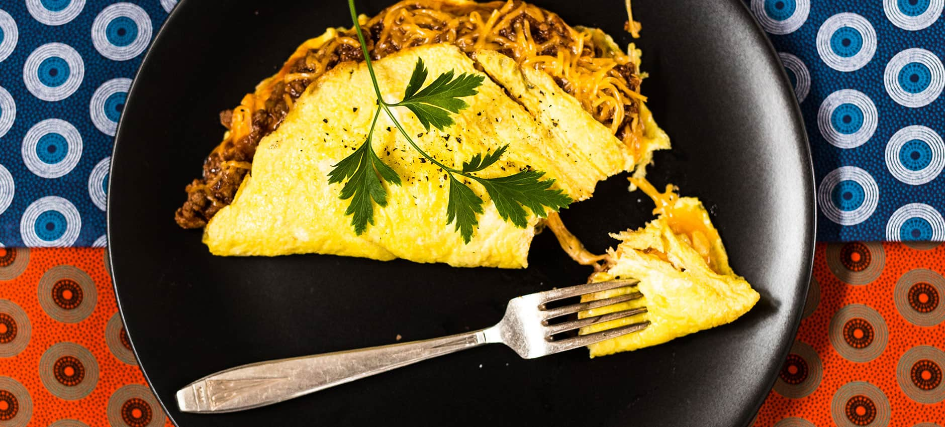 Savoury Mince Omelette